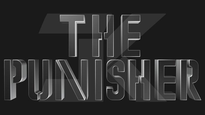 Marvel's The Punisher Font poster