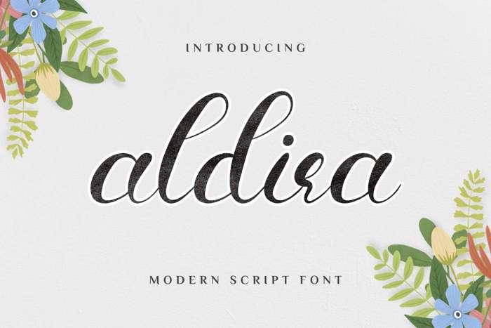 Aldira Font poster
