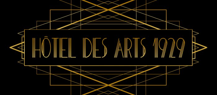 HOTEL DES ARTS 1929 Font poster