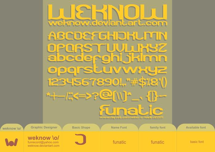 funatic Font poster