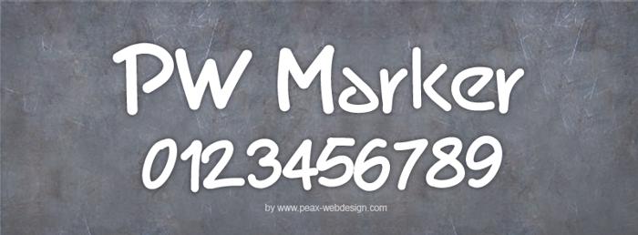 PWMarker Font poster