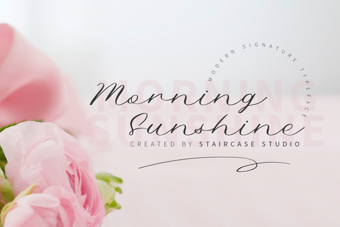 Morning Sunshine Font poster