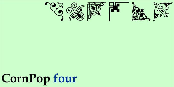 Corn Pop Four (2016) Font poster