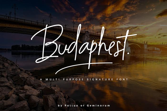 Budaphest Font poster