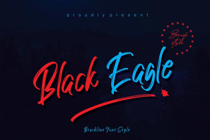 Black Eagle Font poster