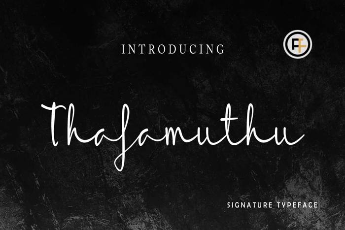 Thafamuthu Font poster