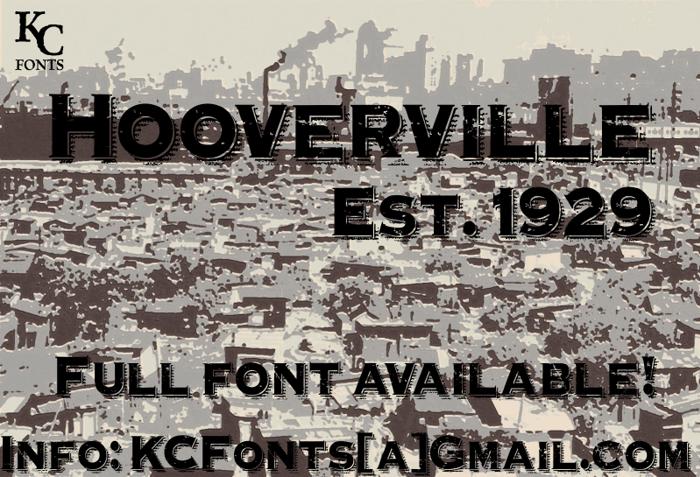 Hooverville Font poster