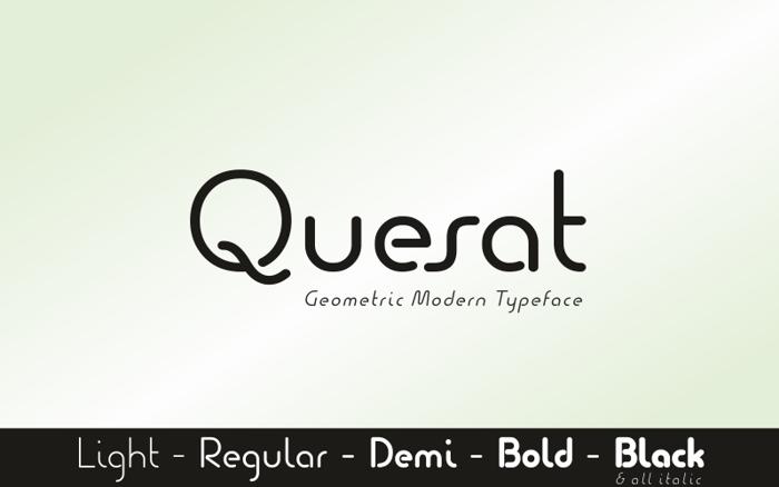 Quesat Demo Font poster