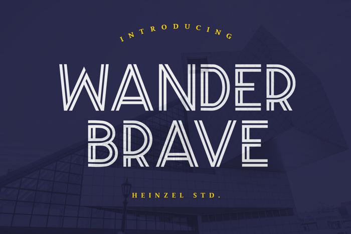 Wander Brave Font poster