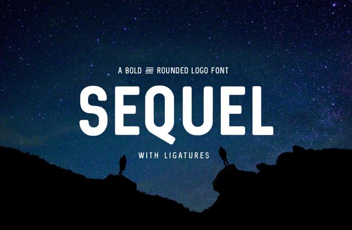 Sequel Font poster
