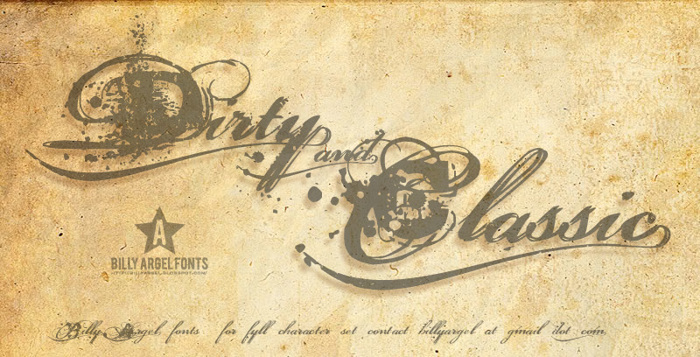 Dirty and Classic Font poster