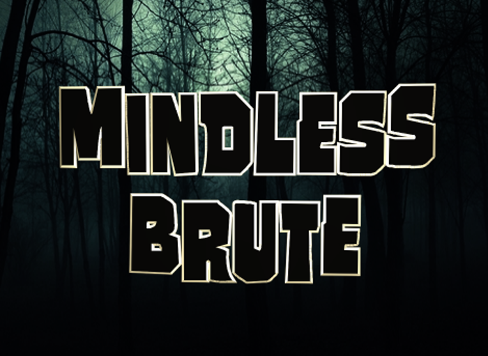 Mindless Brute Font poster