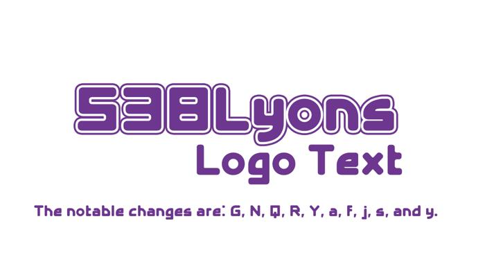 538Lyons Logo Text Font poster