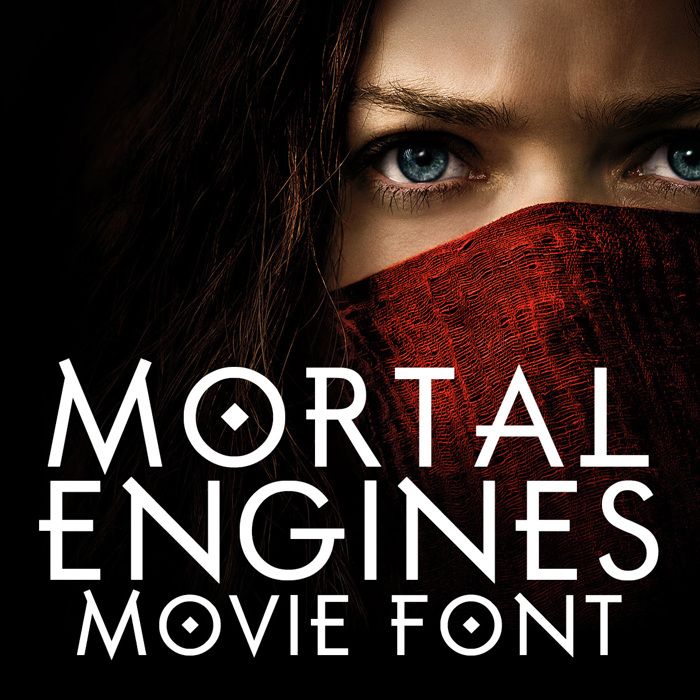 Mortal Engines Font poster