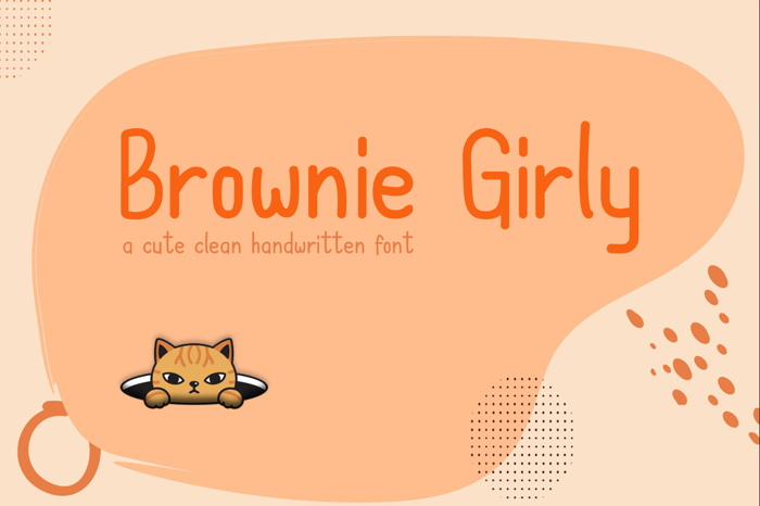Brownie Girly Font poster