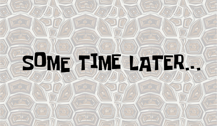 Some Time Later Font poster