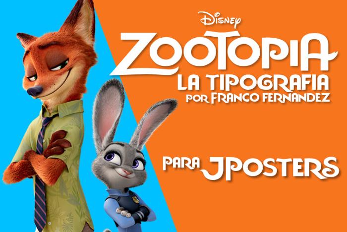 Zootopia Font poster