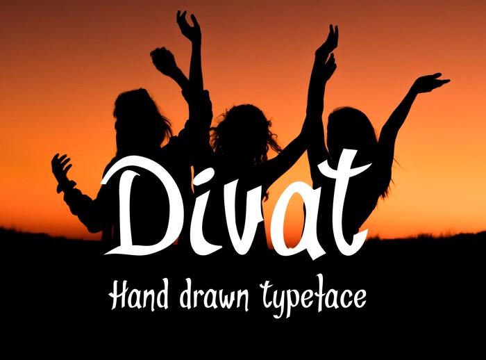 Divat Font poster