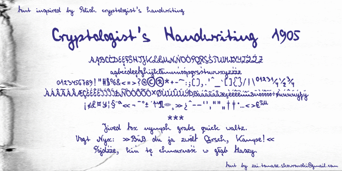 Cryptologist's Handwriting Font poster