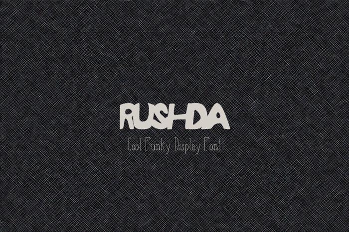 RUSHDA Font poster