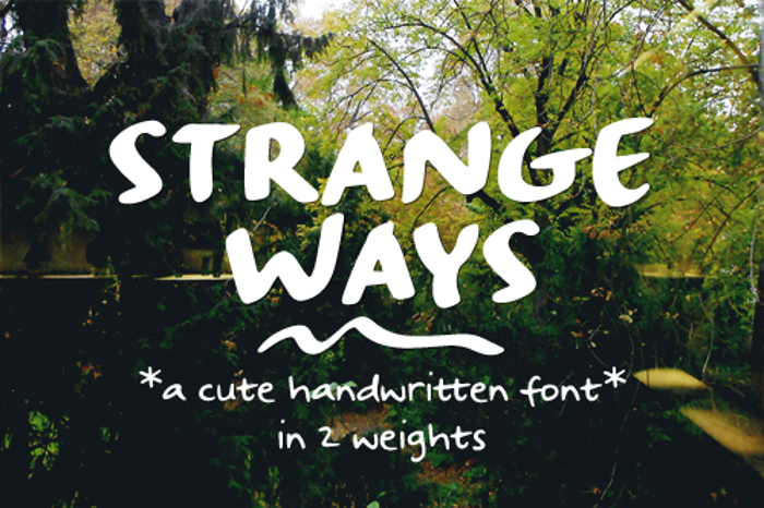 Strangeways Sample Font poster