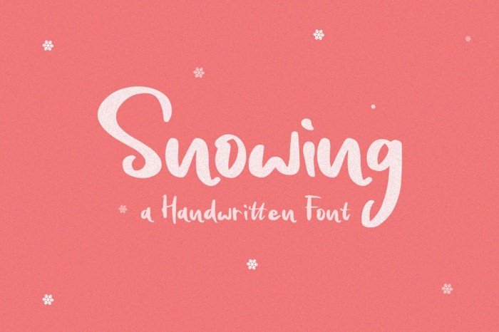 Snowing Font poster