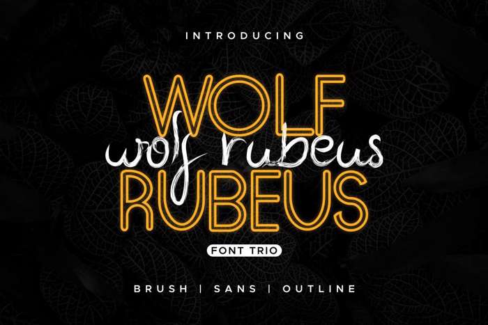 Wolf Rubeus Demo Font poster