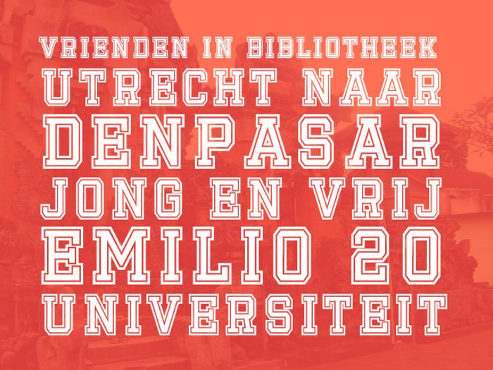 Emilio 20 Font poster