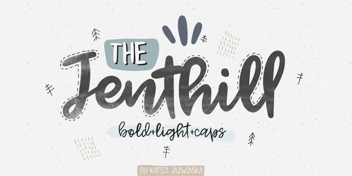 Jenthill Font poster
