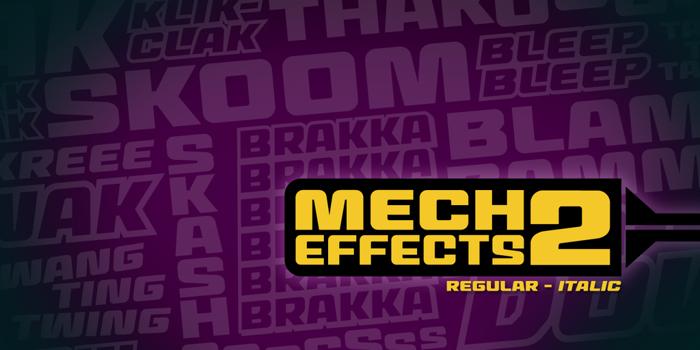 MechEffects2 BB Font poster
