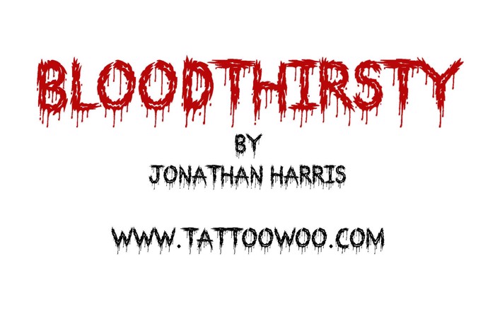 Bloodthirsty Font poster