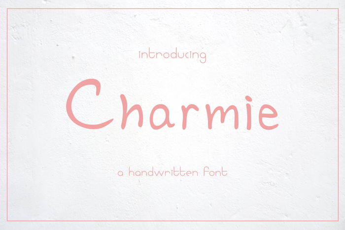 Charmie Font poster