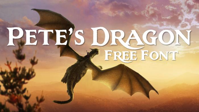 Pete's Dragon Font poster