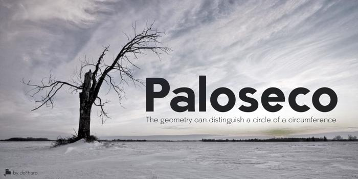 Paloseco Font poster