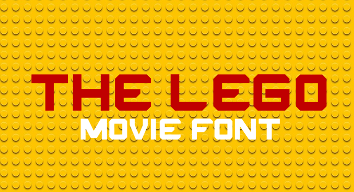 THE LEGO MOVIE Font poster