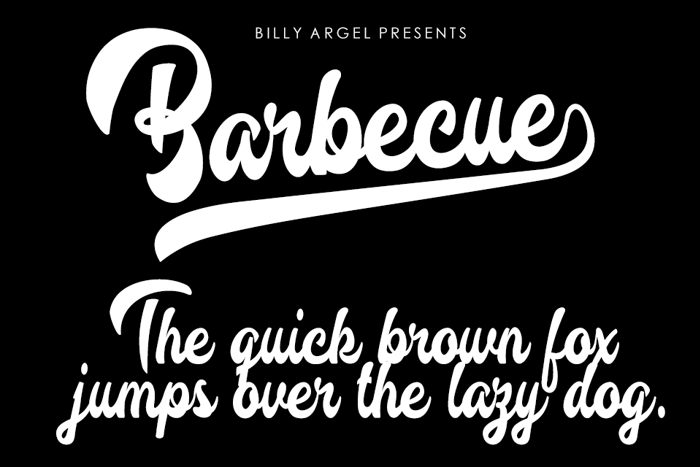 Barbecue Font poster