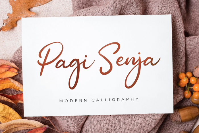 Pagi Senja Font poster