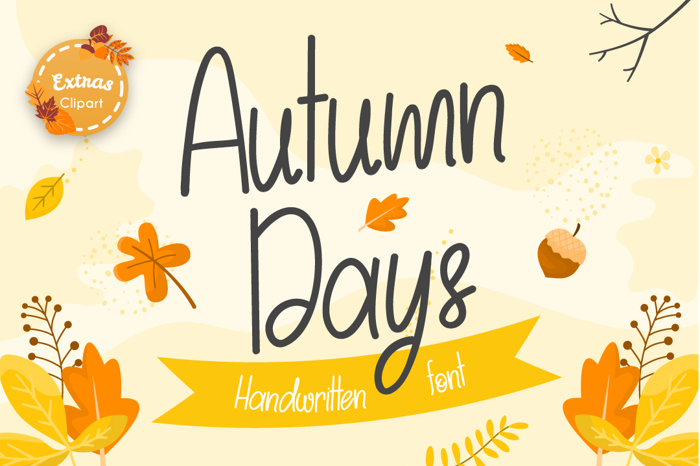 Autumn Days Font poster