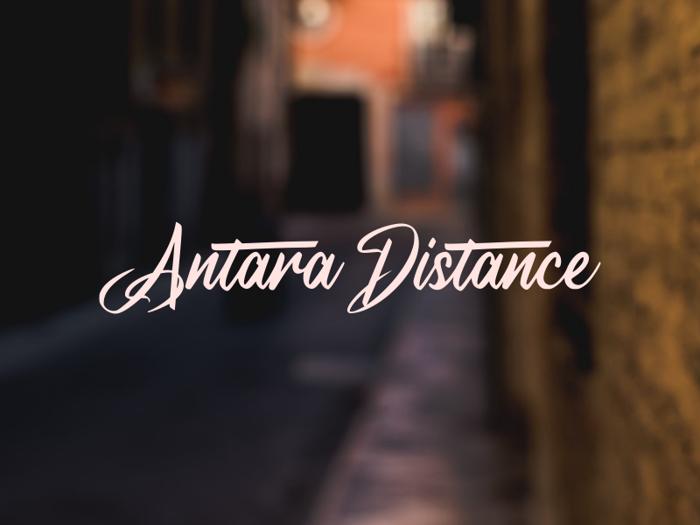 a Antara Distance Font poster
