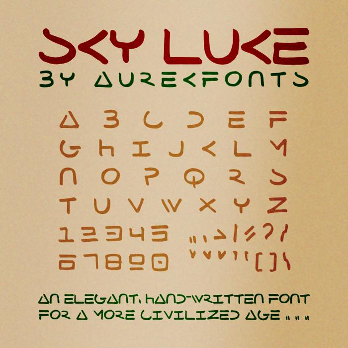 Sky Luke Font poster