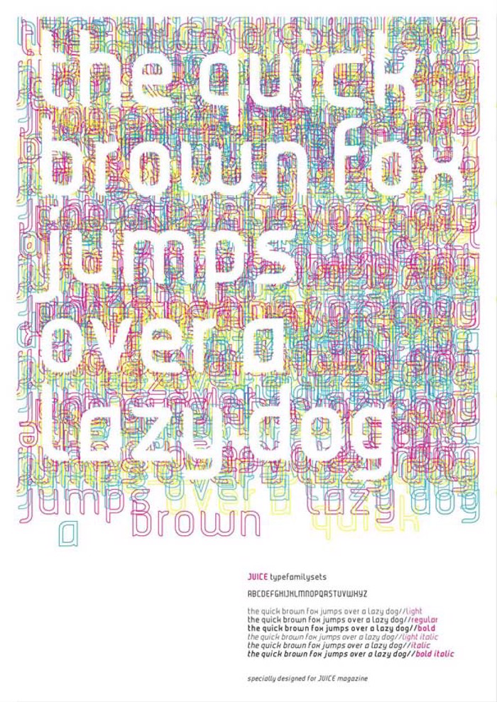 JUICE Font poster