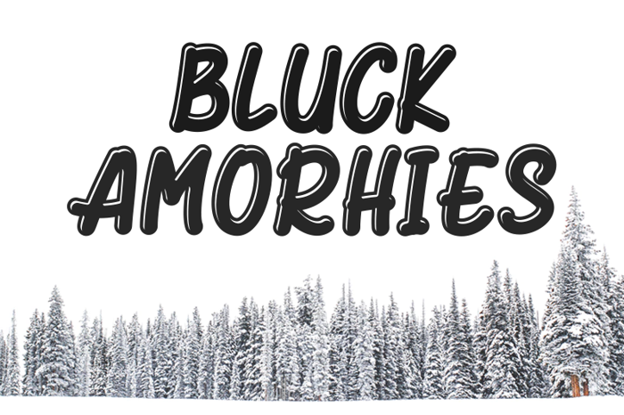 Bluck Amorhies Font poster