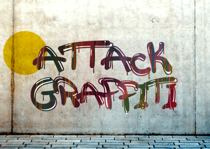 a Attack Graffiti Font poster