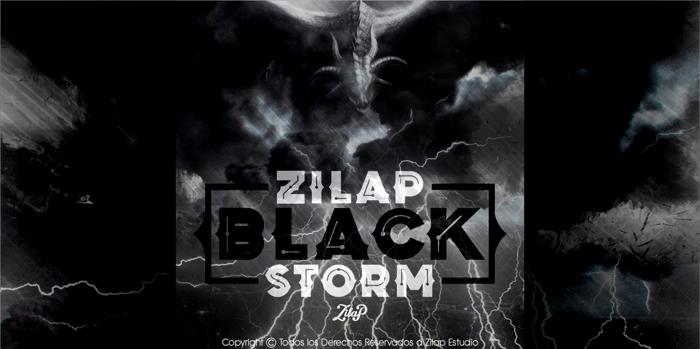 Zilap Black Storm Font poster