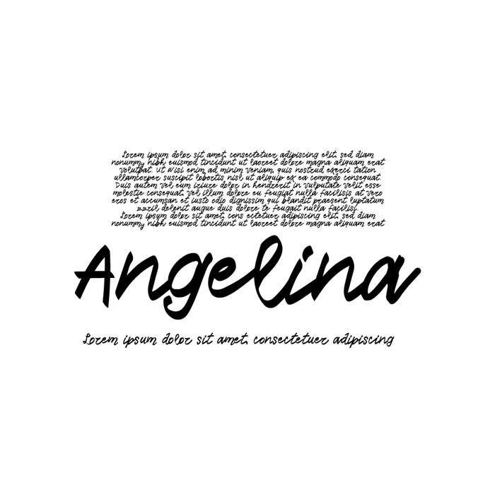 Vtks Angelina Font poster