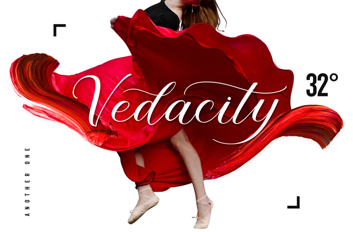 Vedacity Font poster