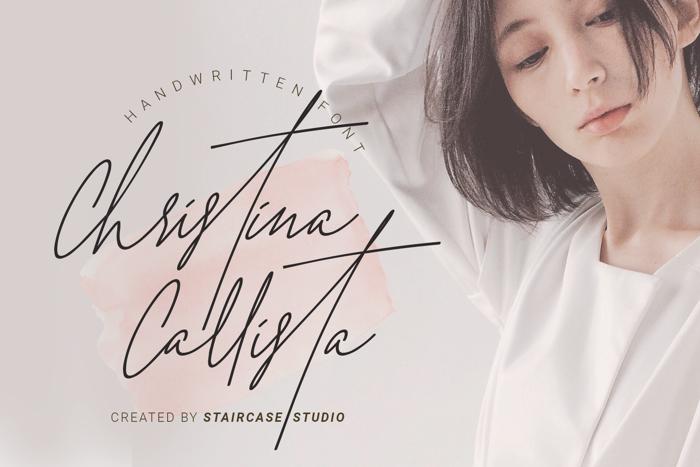 Christina Callista Font poster