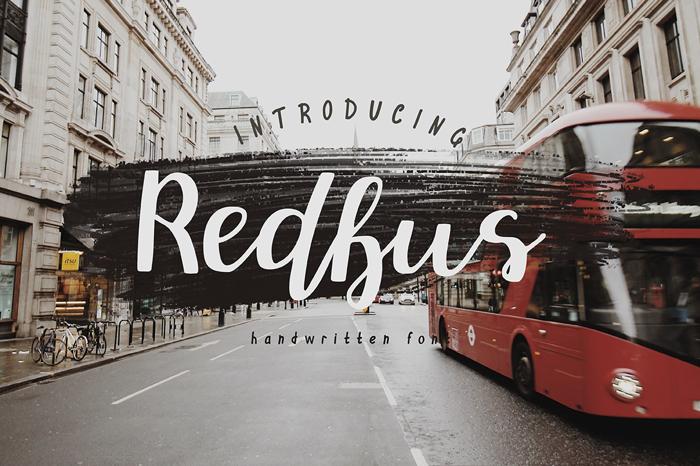 Redbus Font poster
