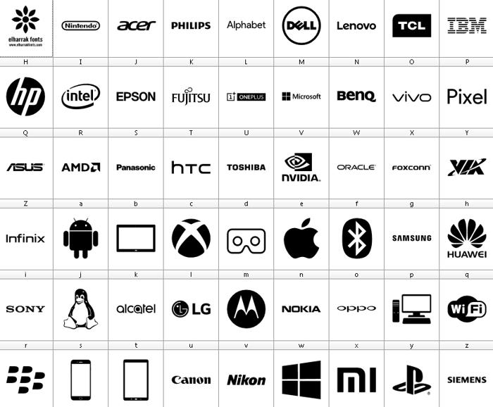 Font Logos Technology poster