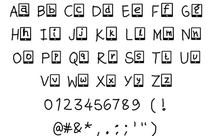 kute phone Font poster